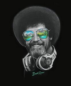 Teelocity DJ Bob Ross T Shirt