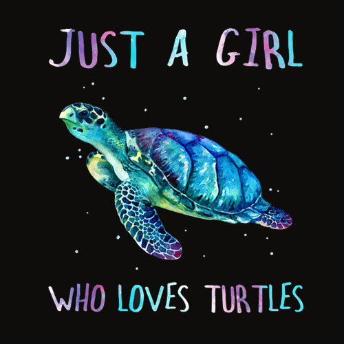Turtle Watercolor Sea Ocean Just A Girl Who Loves Turtles T Shirt
