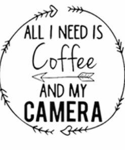 Womens Funny Camera Love Shirt Photographer Coffee Lover Tee Gift
