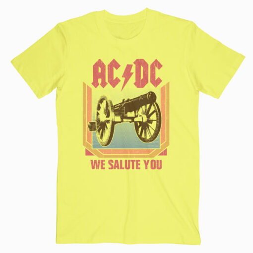 ACDC Heavy Metal Rock Band We Salute You Natural Band T Shirt