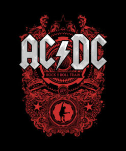 ACDC Rock N Roll Train Band T Shirt