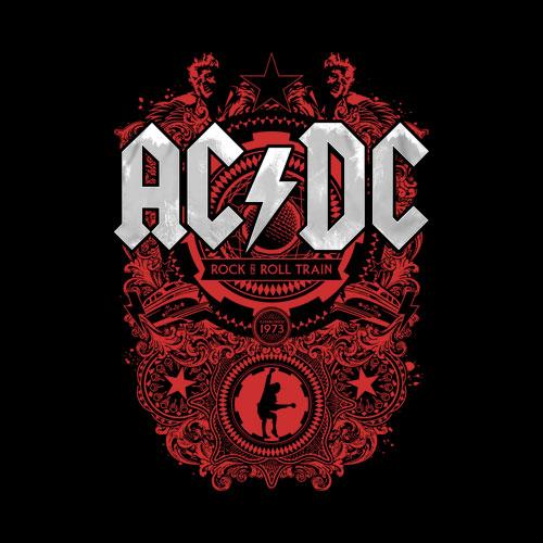 ACDC Rock N Roll Train Band T Shirt