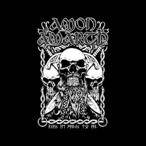 Amon Amarth Bearded Skull Band T Shirt