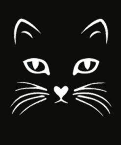 Cat Face T Shirt Halloween Tshirt For Women Girls Boys Kids T Shirt