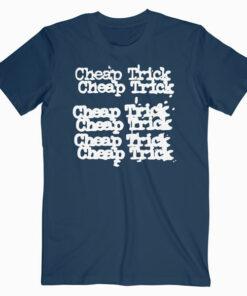 Cheap Trick x 3 Rock Band Name Repeat Black Band T Shirt