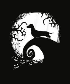 Dachshund And Moon Halloween TShirt For Dachshund Lovers T Shirt