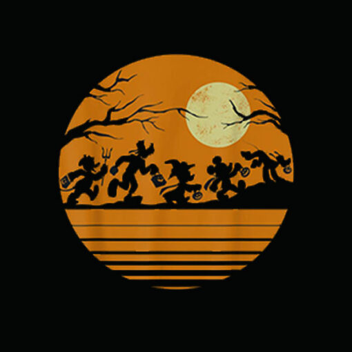 Disney Mickey Mouse and Friends Halloween T Shirt