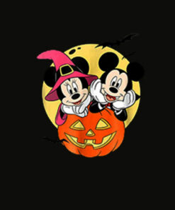 Disney Mickey and Minnie Halloween T Shirt