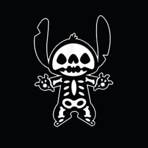Disney Stitch Halloween Skeleton T Shirt