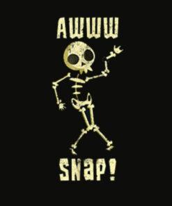 Funny Broken Arm Shirt Awww Snap! Skeleton Broken Bone