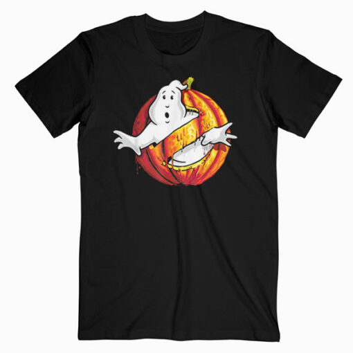 Ghostbusters Classic Logo Halloween Pumpkin Graphic T Shirt