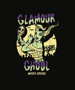 Glamour Ghoul Vintage Halloween Monster T Shirt