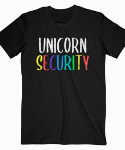 Halloween Dad Mom Daughter Adult Costume Unicorn Security T Shirt