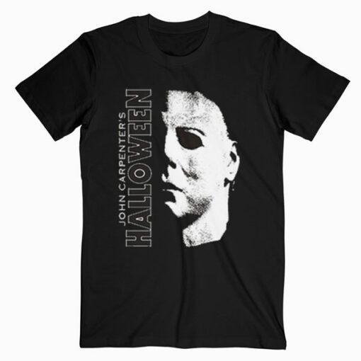 Halloween Michael Myers Large Face Premium T Shirt