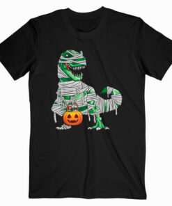 Halloween Pumpkin Dinosaur T Shirt Gift for Kids Boys Girls
