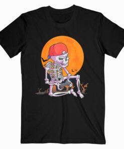 Halloween Shirt Men Boys Gamer Gift Skeleton Shirt for Boys T Shirt