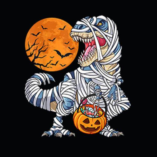 Halloween Shirts for Boys Kids Dinosaur T rex Mummy Pumpkin T Shirts