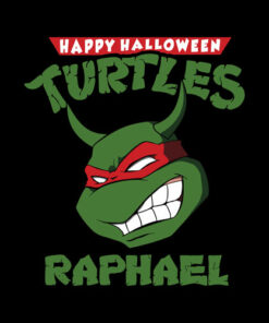 Happy Halloween Turtles Raphael Zombie Funny T Shirt