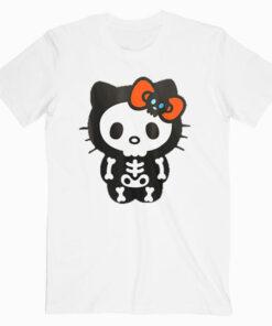 Hello Kitty Skeleton Halloween Tee Shirt