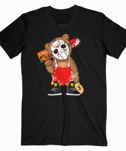 Hockey Teddy Bear Parody Horror 13th Hip Hop Halloween T Shirt