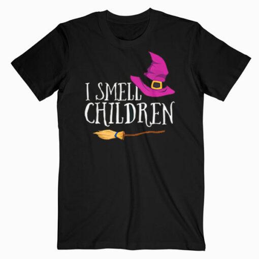 I Smell Children Teacher Halloween Witch Tshirt For Women T Shirt