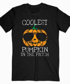 Kids Coolest Pumpkin In The Patch Halloween Boys Girls Gift T Shirt