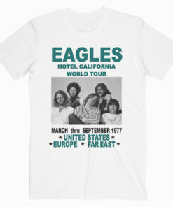 Kopoo Don Henly Glenn Frey Poster The Eagles Band Hotel California World Tour Band T Shirt
