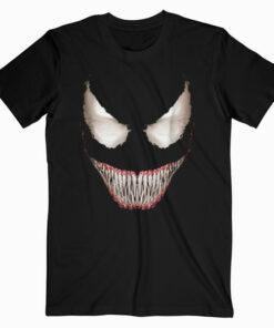 Marvel Venom Big Face Grin Halloween Costume Graphic T Shirt