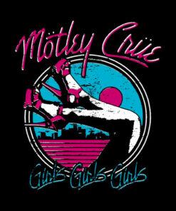 Motley Crue Girls Vintage Band T Shirt