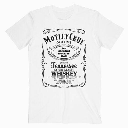 Motley Crue Jack Daniel Band T Shirt