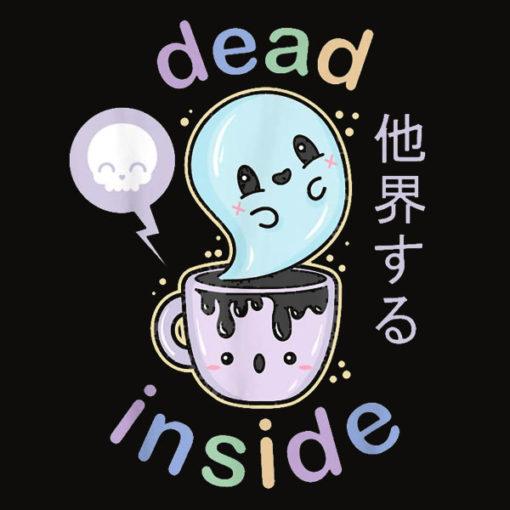 Pastel Goth Dead Inside Coffee T Shirt Creepy Kawaii Gift