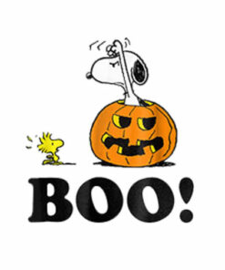 Peanuts Halloween Snoopy Woodstock BOO! T Shirt
