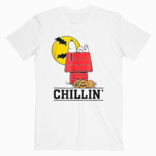 Peanuts Snoopy Chillin' Halloween Style T Shirt
