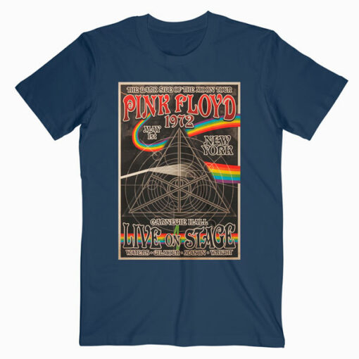 Pink Floyd 1972 Carnegie Hall Poster Band T Shirt
