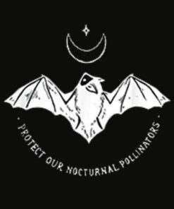 Protect Our Nocturnal Polalinators Bat with Moon Halloween T Shirt