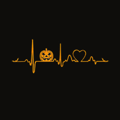 Pumpkin Heartbeat Halloween T Shirt