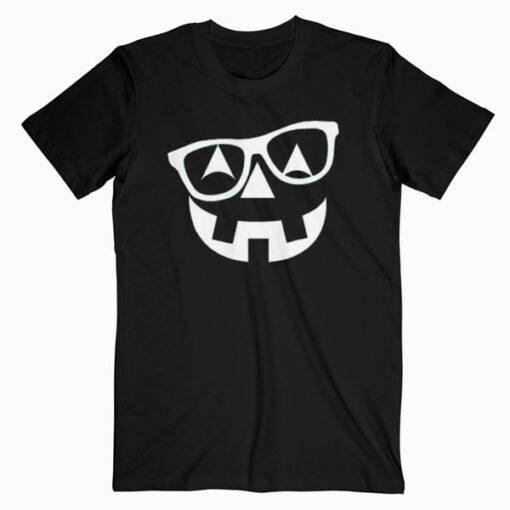 Pumpkin Shirt with Glasses Pumpkin Nerd Shirt