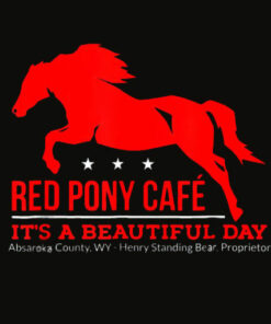 Red Pony Cafe Funny cute horse lover T Shirt