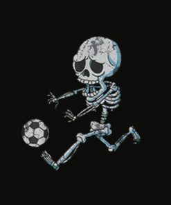 Skeleton Soccer Halloween Boys Girls Kids Men T Shirt