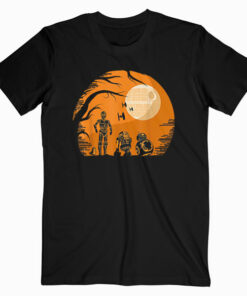 Star Wars Droids Halloween Orange Hue Death Star Portrait T Shirt