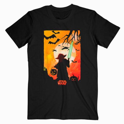 Star Wars Yoda Silhouette Halloween T Shirt