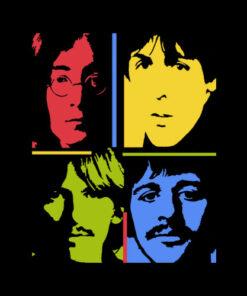 The Beatles Pop Art Band T Shirt