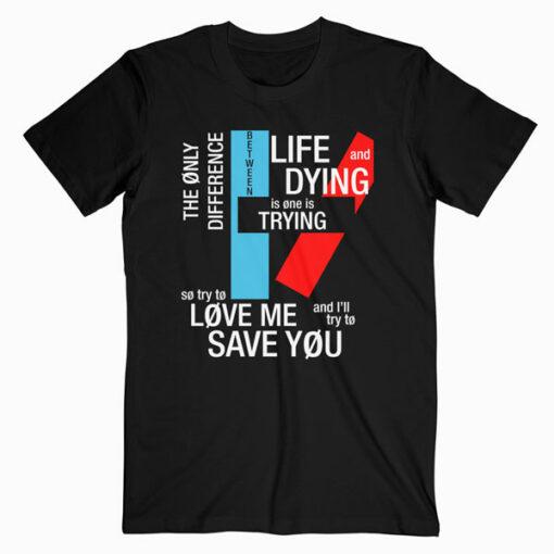Twenty One Pilots Typography Band T Shirt