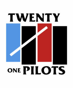 Twenty One Pilots Black Flag Funny Band T Shirt