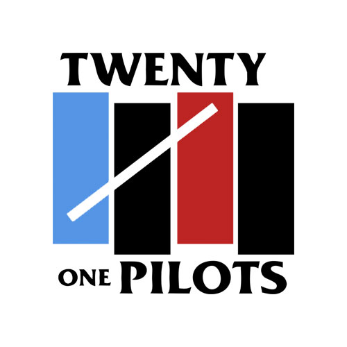 Twenty One Pilots Black Flag Funny Band T Shirt
