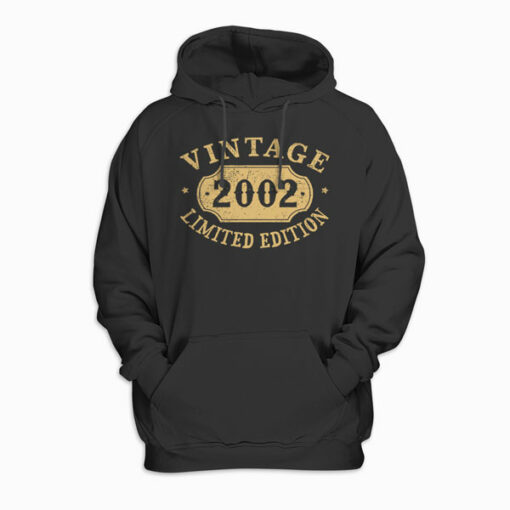 18 years old 18th Birthday Anniversary Gift Limited 2002 Pullover Hoodie