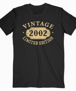 18 years old 18th Birthday Anniversary Gift Limited 2002 T Shirt