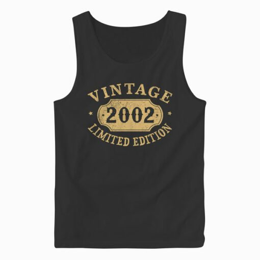 18 years old 18th Birthday Anniversary Gift Limited 2002 Tank Top
