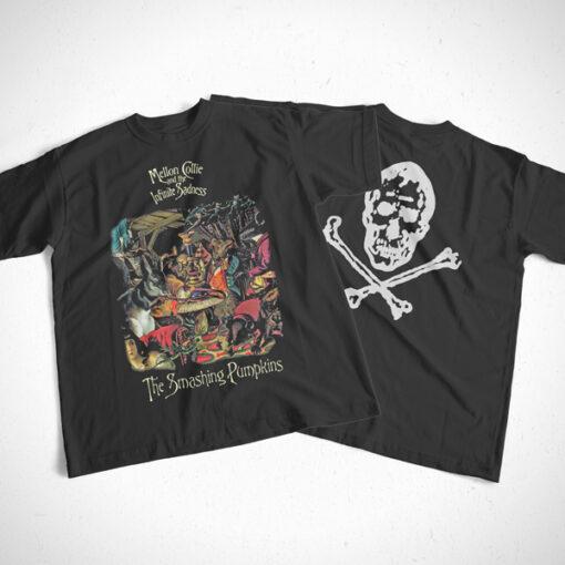 1996 Mellon Collie Smashing Pumpkins Band T Shirt Front Back Sides