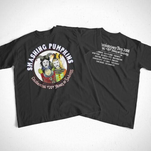 20th Anniversary Tour 2008 Smashing Pumpkins Band T Shirt Front Back Sides